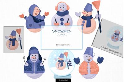 Snowman clipart, part 2