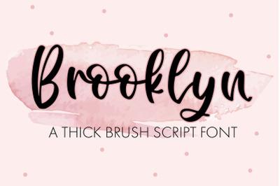Brooklyn - A Thick Brush Script