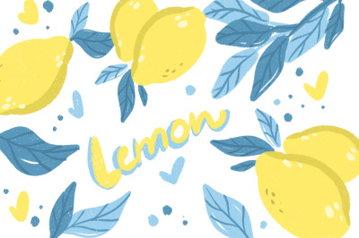 Lemon clipart set