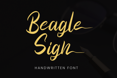Beagle Sign - SIgnature Font