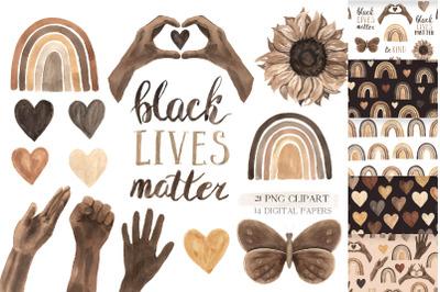 Black Lives Matter - clipart set