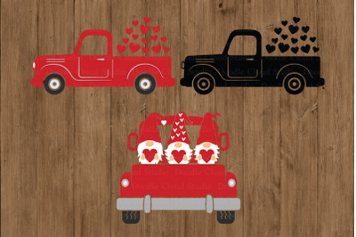 Truck SVG, Valentine's Day Truck SVG Cut Files,  Red Truck with Heart.