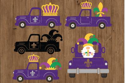 Mardi Gras Truck SVG, Truck SVG, Mardi Gras Svg,Truck Fleur de Lis SVG