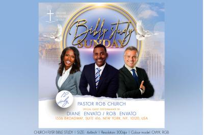 Church Flyer Bible Study