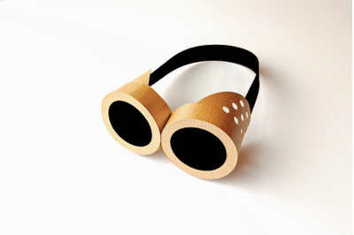 3D Steampunk Goggles | SVG | PNG | DXF | EPS