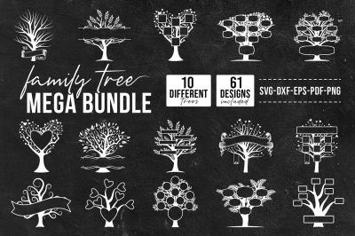 Family Tree Mega Bundle, Big SVG Bundle Of Tree / Family Tree.
