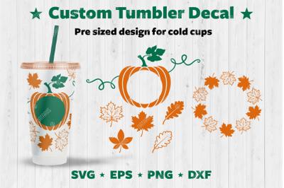 Fall Custom Tumbler Decal.