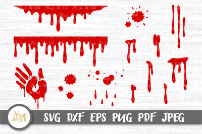 Blood svg, Blood drip svg, Bloody hand svg, Dripping border, Blood