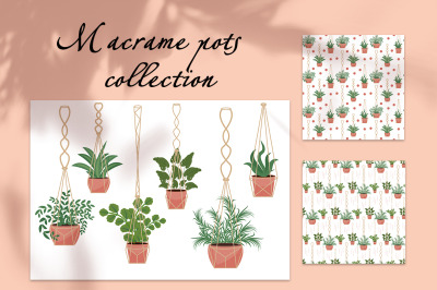 Hanging plants macrame collection