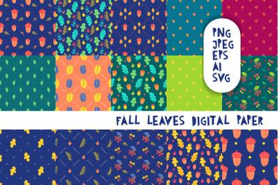 Fall Leaves Digital Paper