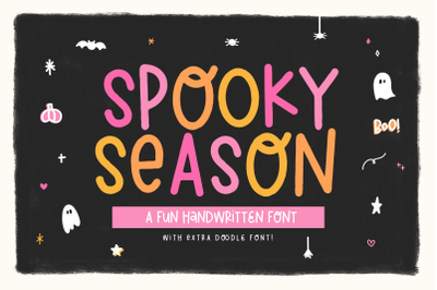 Spooky Season - Font with Doodles