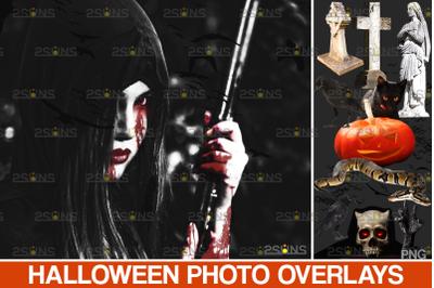 Halloween clipart & Halloween overlays, Photoshop overlay raven