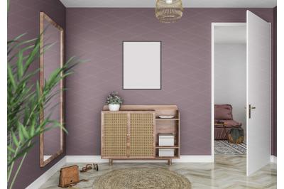 Interior scene_artwork background_frame mockup