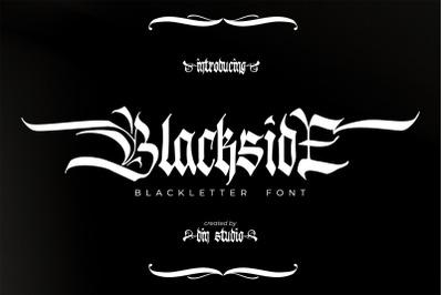 Blackside-Blackletter Font