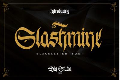 Slashmine-Blackletter Font