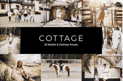 20 Cottage Lightroom Presets & LUTs
