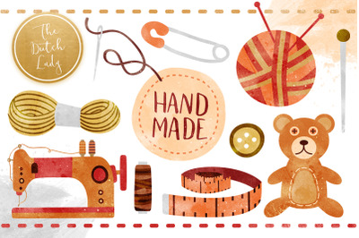 Sewing & Crafts Clipart Set