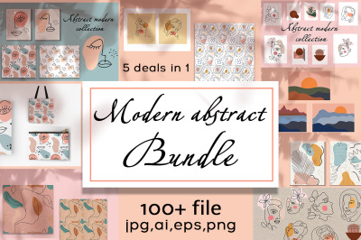 Modern abstract BUNDLE!!