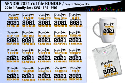 Proud Senior Cutting file bundle 2021
