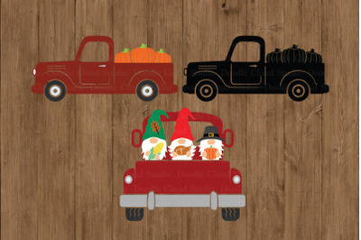 Thanksgiving Truck SVG, Truck SVG, Pumpkin Truck SVG Cut Files.