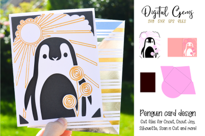 Penguin card design