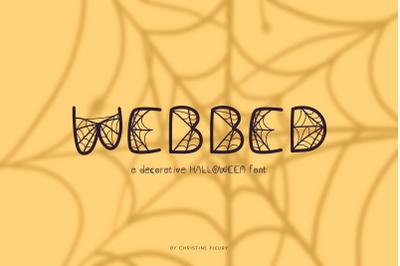 Webbed - a decorative Halloween font