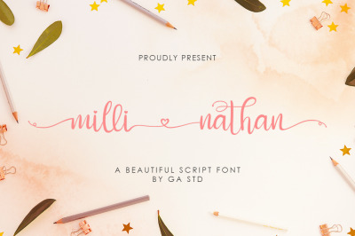 Milli Nathan - A Beautiful Script Font