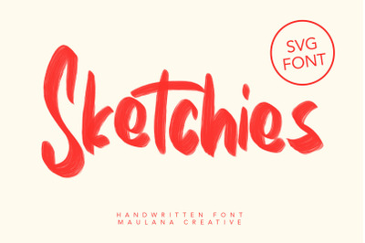 Sketchies SVG Brush Font