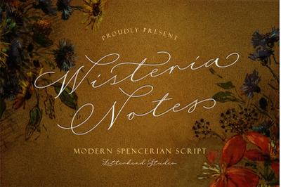 Wisteria Notes - Modern Script Font