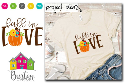 Fall in Love with Fall Pumpkin Fall SVG File