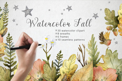 Hello autumn - watercolor collection