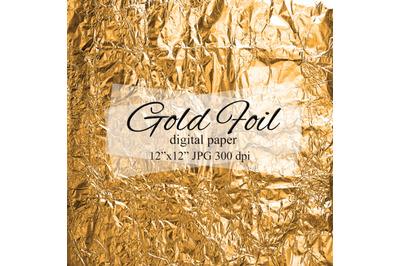 Gold foil digital paper Golden background Foil texture