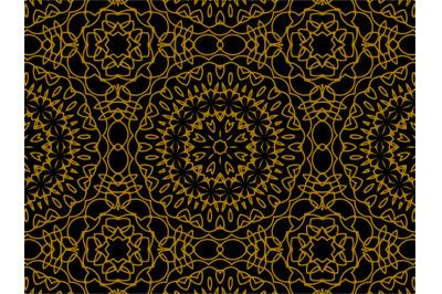 Pattern Gold Ornament