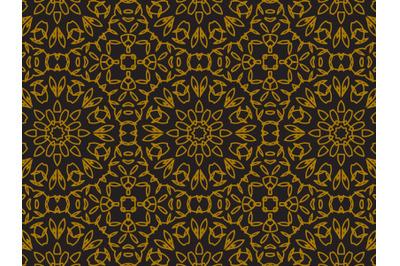 Pattern Gold Line Circle