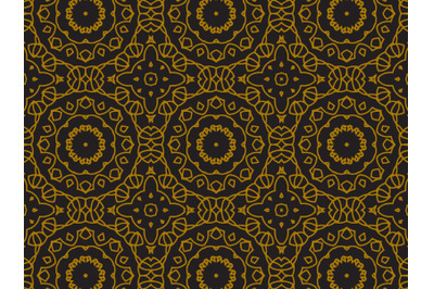 Pattern Gold Line Circle Abstract
