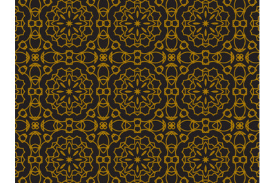 Pattern Gold Line Ornament Abstract