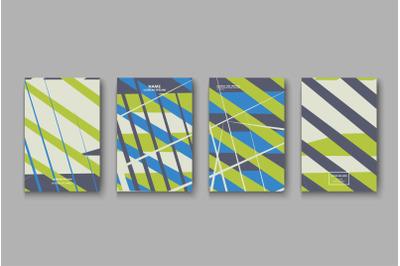 Minimal cover collection design. Green gray halftone gradients.  Abstr