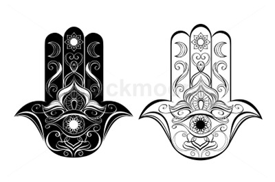 Two Contoured Hands Hamsa