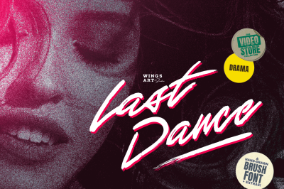 Last Dance - An 80s Inspired Brush Script Font