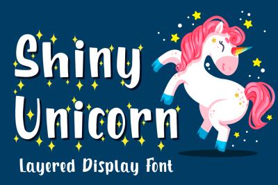 Shiny Unicorn - Display Font