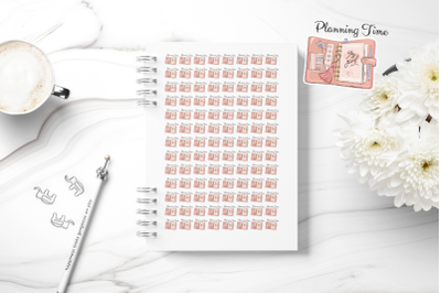Planning Time, Printable Planner Sticker