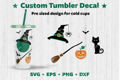 Custom Halloween Tumbler Decal.