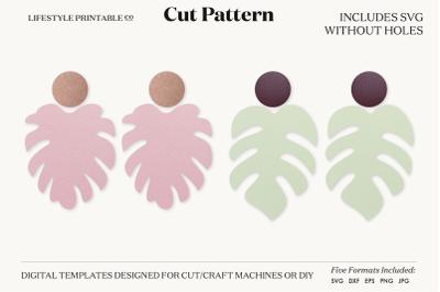 Earrings SVG Template Cut File Cricut Earrings Bundle Leather Earring