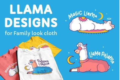 Magic Llamas. Apparel designs