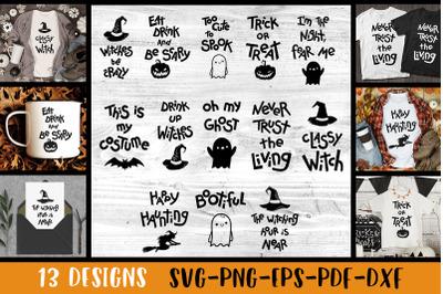 Halloween svg bundle Halloween quotes SVG Halloween shirt designs