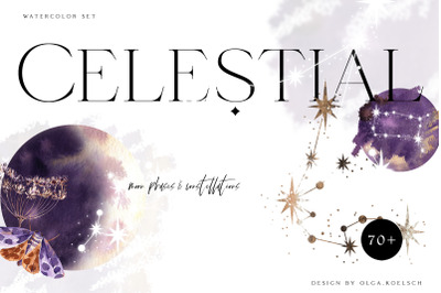 Zodiac constellation clipart Celestial clip art zodiac printable