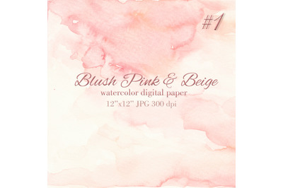 Blush pink watercolor texture Wash stain background