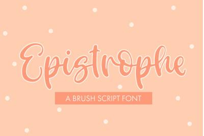 Epistrophe - A Brush Script