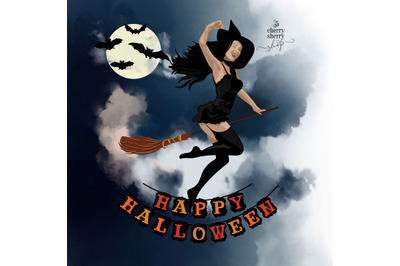 Halloween Cliparts, Halloween Illustrations, Witch Clipart