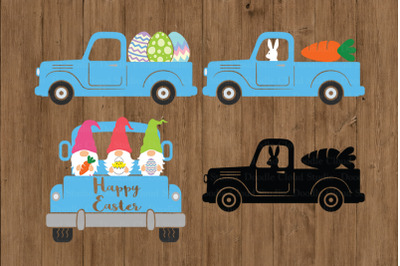 Easter Truck SVG, Easter Vintage Truck SVG Cut Files.